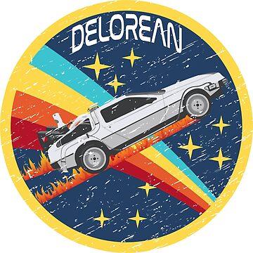 Delorean back to the future nasa T-shirt by rosadinardo4