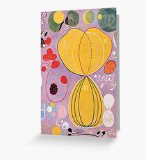 Hilma Af Klint Group IV No 7 The Ten Largest Adulthood  Greeting Card