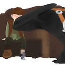 Hiccup x Toothless FANART 04 by liajung