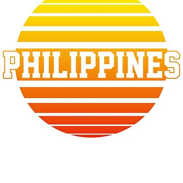 Philippines retro sun rising by 4tomic