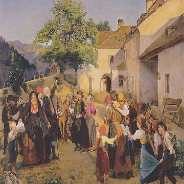Farewell to the bride-Ferdinand Georg Waldmüller by LexBauer