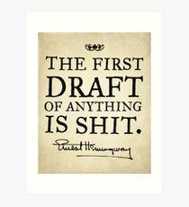 First Drafts Art Print