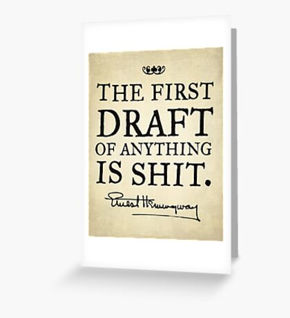 First Drafts Greeting Card