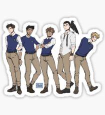 Leg dich nie mit Raven Boys an Sticker