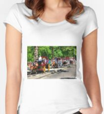 Central Park Carriage Ride Women's Fitted Scoop T-Shirt