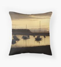 Findhorn Boats Throw Pillow