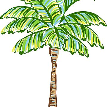 Cute Preppy Colorful Palm Tree Illustration by JillLouise