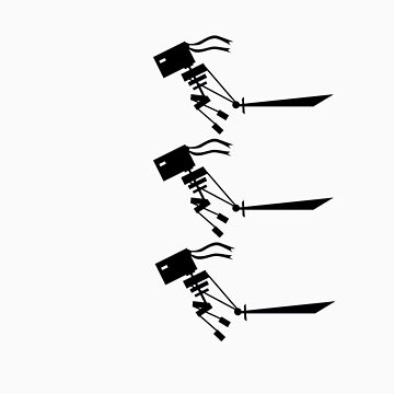 Micro Ninjutbots Attack (Black Print) by graalman