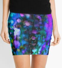 Abstract Art Floral Mini Skirt