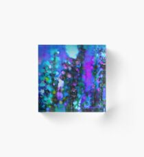 Abstract Art Floral Acrylic Block