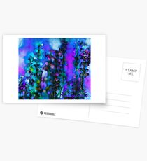 Abstract Art Floral Postcards