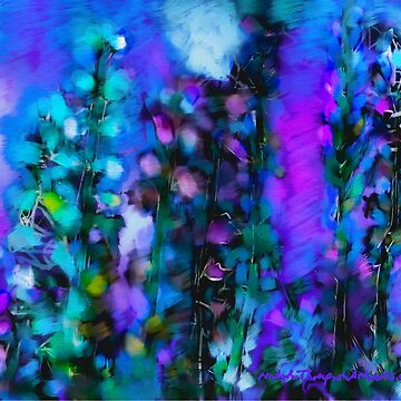 Abstract Art Floral by ntartworks