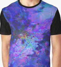 Fraktale Blue Andrea Grafik T-Shirt
