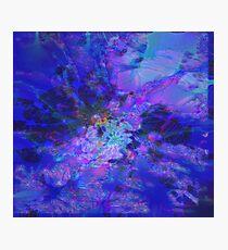 Fraktale Blue Andrea Fotodruck