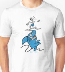 Shark Powered Surfing Unisex T-Shirt