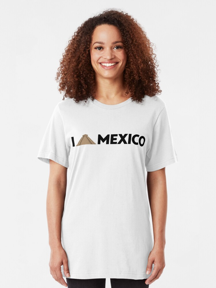 Alternate view of I love Mexico - Chichen Slim Fit T-Shirt
