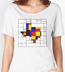 Texas du Mondrian Women's Relaxed Fit T-Shirt
