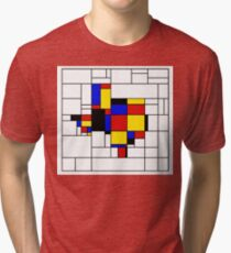 Texas du Mondrian Tri-blend T-Shirt