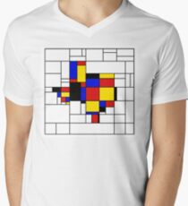 Texas du Mondrian Men's V-Neck T-Shirt