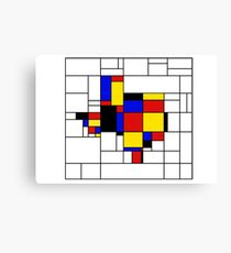 Texas du Mondrian Canvas Print