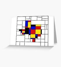 Texas du Mondrian Greeting Card