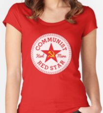 Commie Shoe Logo Women's Fitted Scoop T-Shirt
