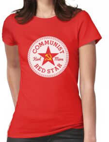 Commie Shoe Logo Womens Fitted T-Shirt