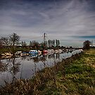 River Rother At New Bridge Iden by Dave Godden