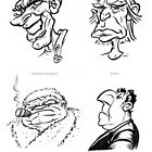 Caricature Sketches 6 by Chris Baker