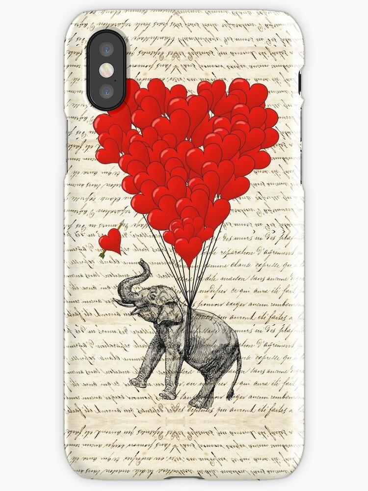 Elephant and love heart by oconnart