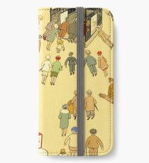 The Lure of the Underground - London Travel Vintage Poster iPhone Wallet/Case/Skin