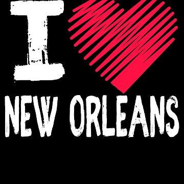 I Love New Orleans Tourist Gift by Aewood924