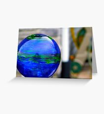 A look into glass Greeting Card