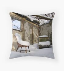 Snowy Reception Throw Pillow