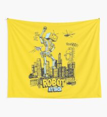 Robot attack Wall Tapestry