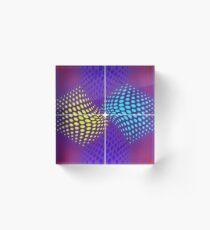 Mixed Nets Abstract Painting Acrylic Block