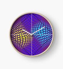 Mixed Nets Abstract Painting Clock