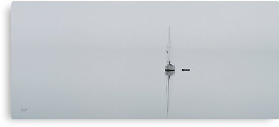 Moored in the Fog by Rick Lawler