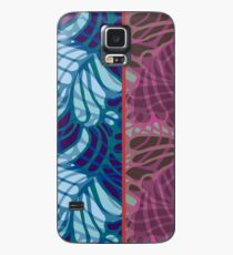 Blue and Purple Abstract Case/Skin for Samsung Galaxy