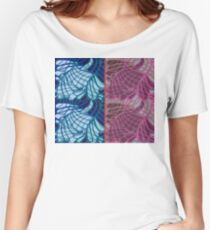 Blue and Purple Abstract Women's Relaxed Fit T-Shirt