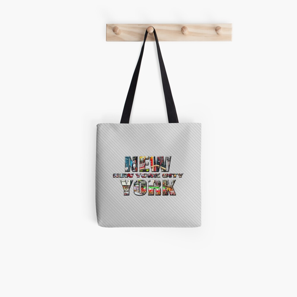 NEW YORK CITY (colour photo-filled type on B&W type background) Tote Bag