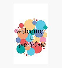 Willkommen bei Falsettoland / Falsettos Dots Fotodruck