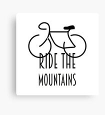 Ride The Mountains Canvas Print