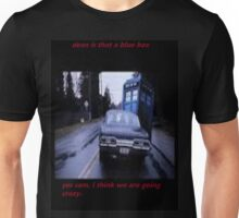 dean saved by a blue box Unisex T-Shirt