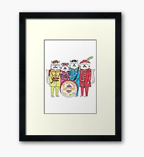 SGT Peppurr's Lonely Hearts Cats Band Framed Print