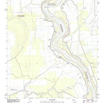 USGS TOPO Map Louisiana LA Bayou Current 20120423 TM by wetdryvac
