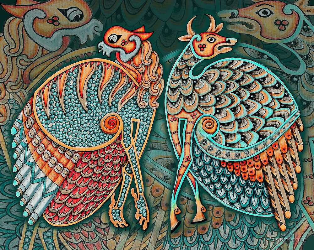 """""""Zoomorphic Winged Beasts"""" by Smurfesque 
