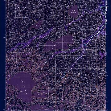 USGS TOPO Map Louisiana LA Bayou Du Large 334265 1944 62500 Inverted by wetdryvac