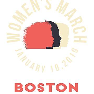 Women's March 2019 Boston by oddduckshirts