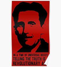 Wahrheit ist revolutionär - George Orwell Poster
